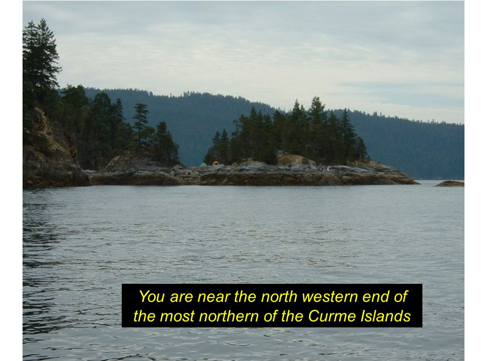 You are near the north western end of the most northern of the Curme Islands