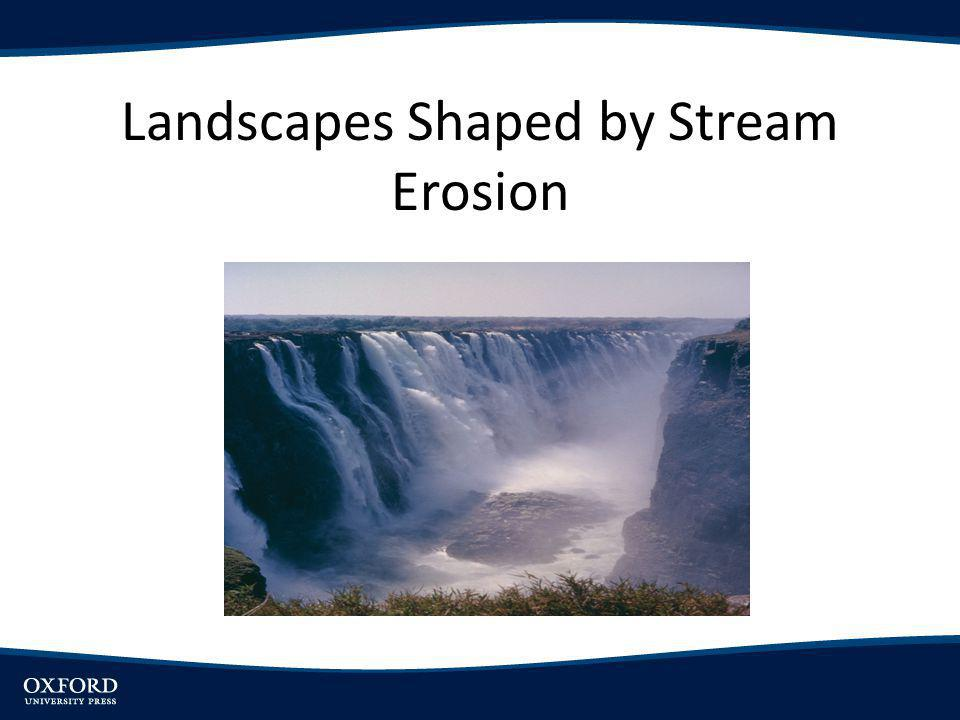 Objectives Outline effects of geologic structure, lithology, tectonics and climate on stream erosion Introduce types of drainage networks and their origin Examine cases of stream erosion overcoming control of geologic structure Review major theories of long-term landscape development