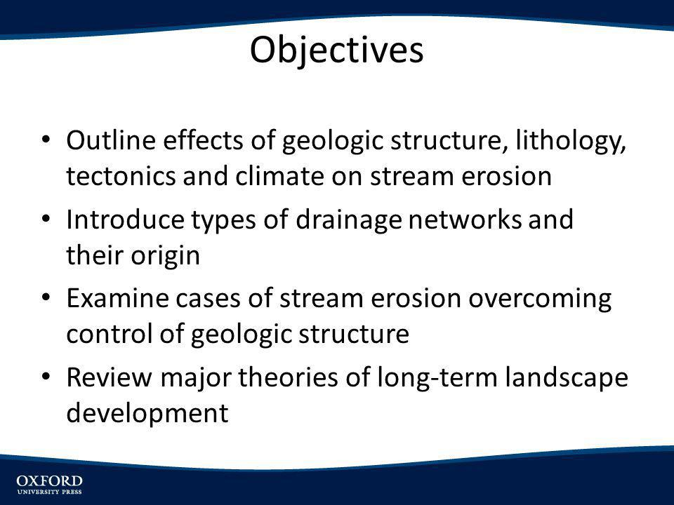 Introduction Rivers erode landscapesprocesses occur at same time – Widening and deepening of valleys – Slope modification – Mass movements – Exposure of buried Stream modified landscapes more extensive than other types