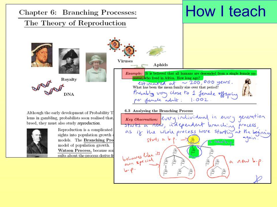 How I teach