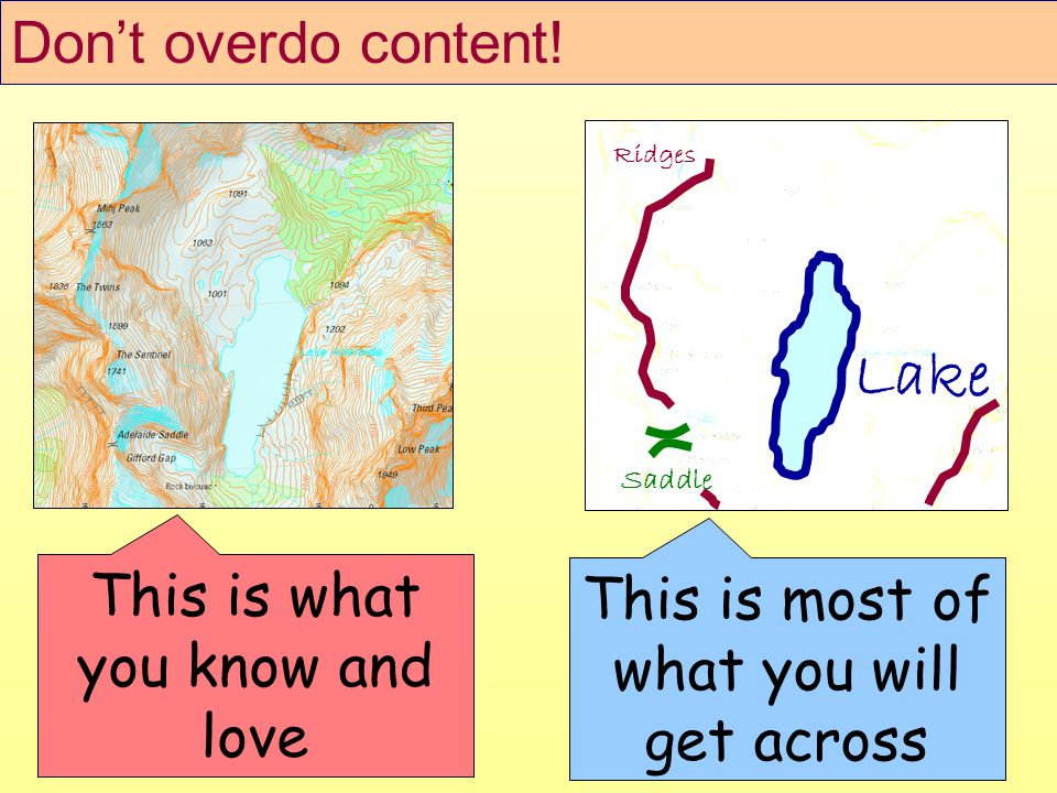 Dont overdo content.