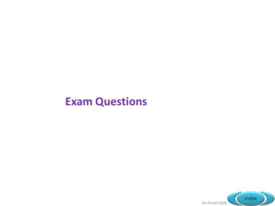 Mr Powell 2008 Index Exam Questions