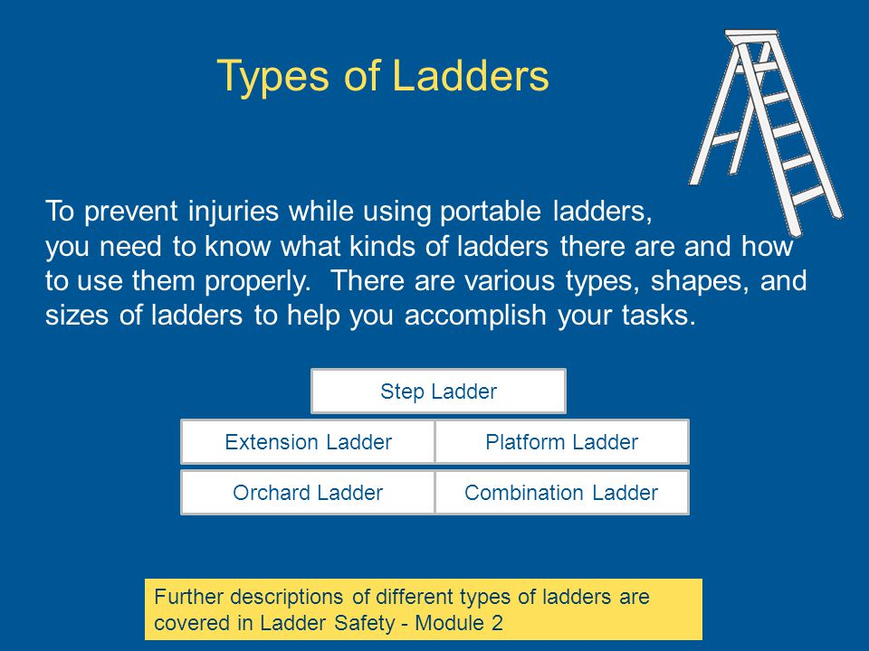 To prevent injuries while using portable ladders, you need to know what kinds of ladders there are and how to use them properly. There are various typ