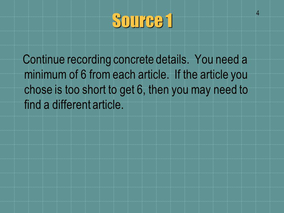 Source 2 Bibliographic Entry – MLA Format for second article p. # ?