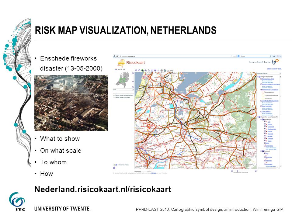 RISK MAP OF THE NETHERLANDS Symbol Design (2003) Technology = flamingo (viewer as Flash Player) Framework: Java (JDK 1.6 or newer) Tomcat (6 or newer) Apache Tomcat is an open source software implementation of the Java Servlet and JavaServer Pages technologies.