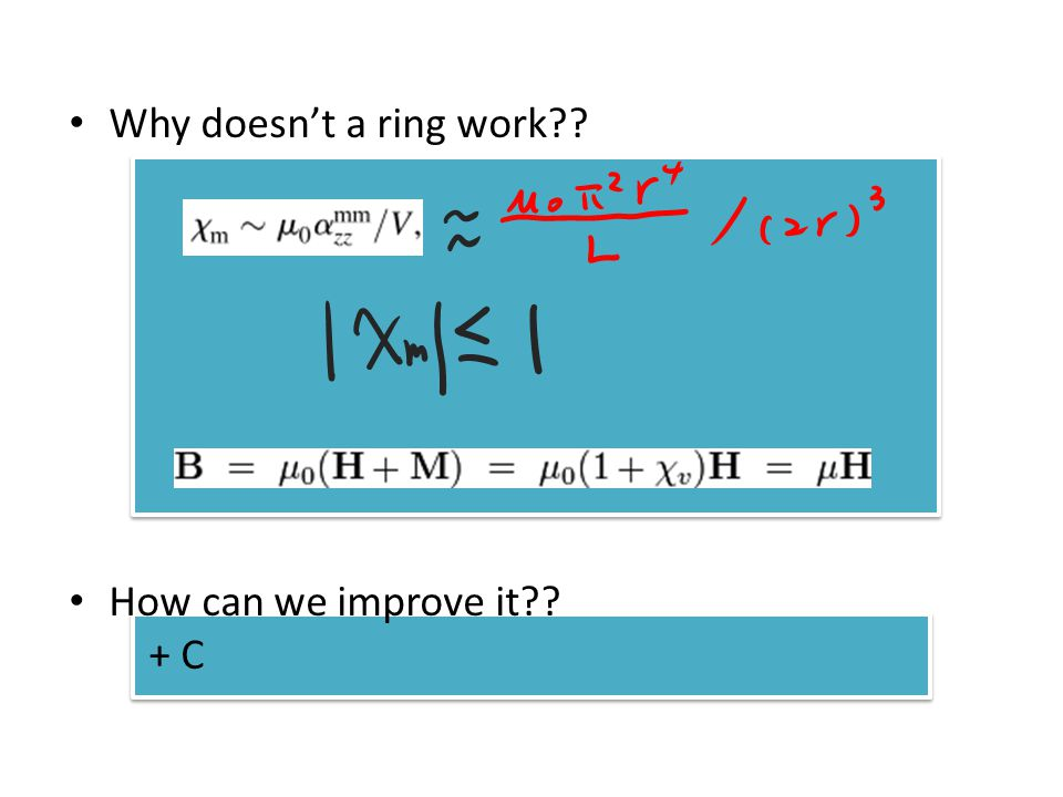 Why doesnt a ring work How can we improve it + C
