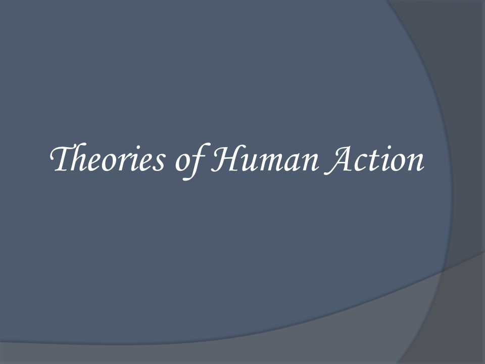 Theories of Human Action