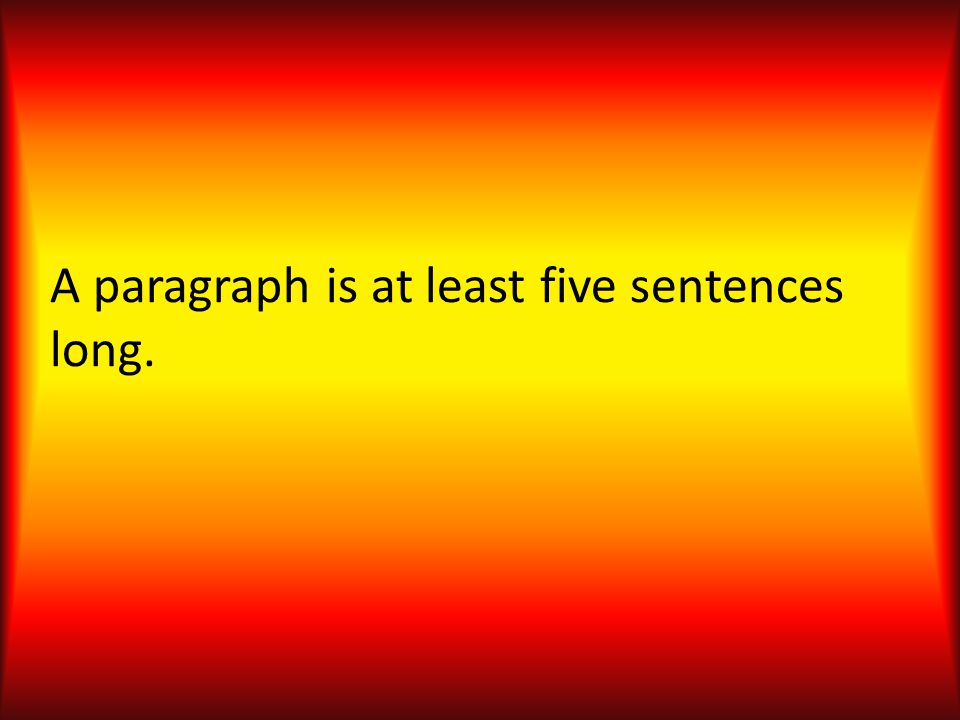 Strong paragraphs contain sentences unified around one central, controlling idea.