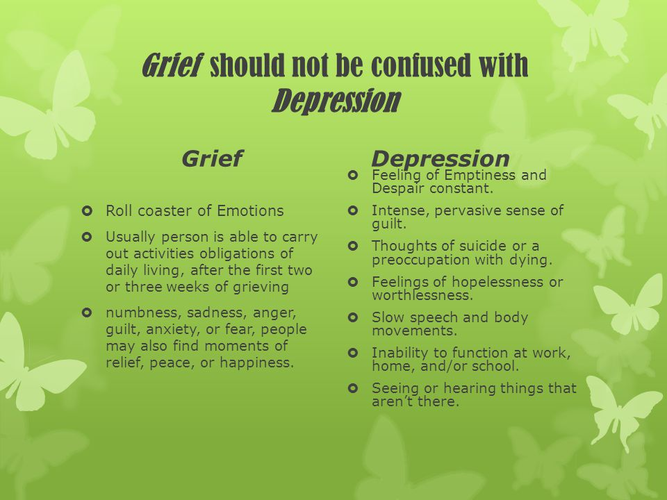 Obstacles in the process of Grieving for Aging Population Obstacles that can develop from grieving include depression, anxiety, suicidal thoughts, and physical illness.