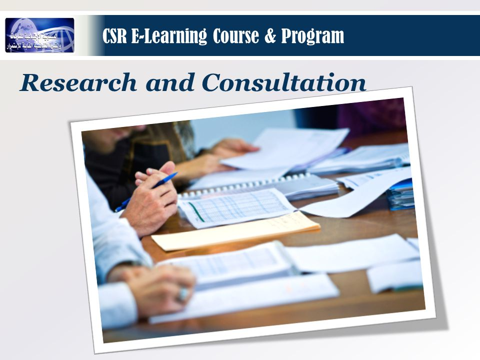 Research and Consultation