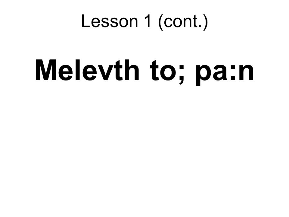 Melevth to; pa:n