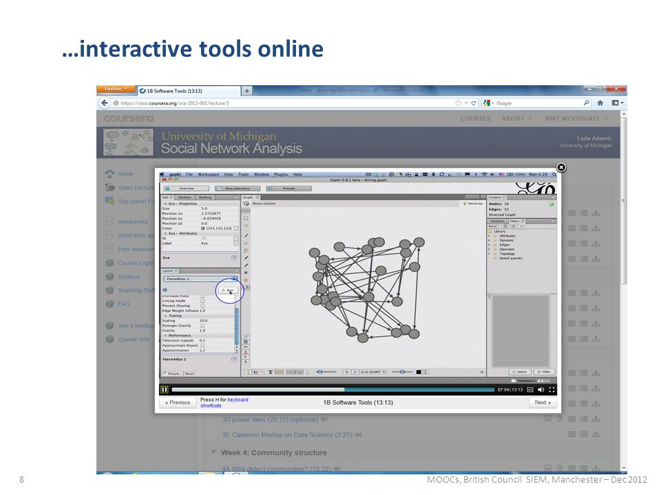 8 …interactive tools online MOOCs, British Council SIEM, Manchester – Dec 2012