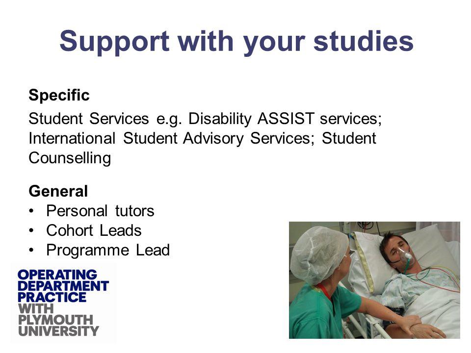 Specific Student Services e.g.