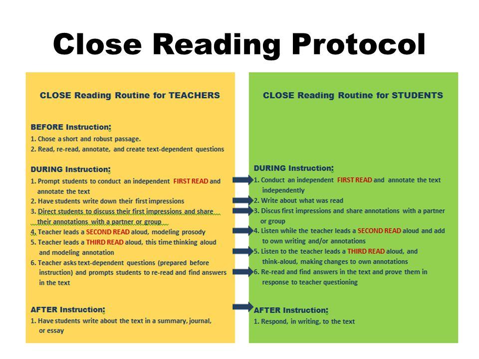 Close Reading Protocol