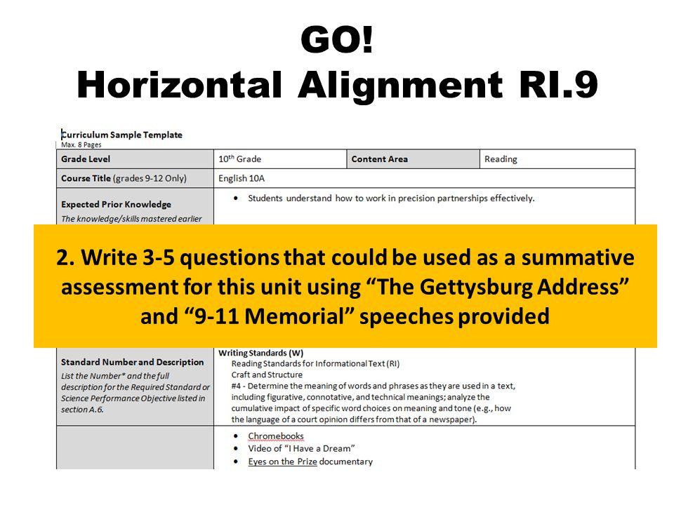 GO. Horizontal Alignment RI.9 2.
