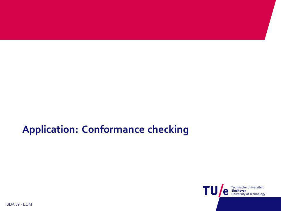 Application: Conformance checking ISDA09 - EDM