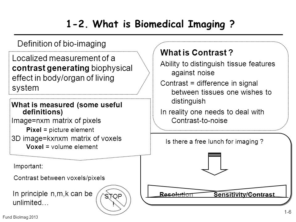 Fund BioImag 2013 1-7 What is the difference between signal-to-noise and contrast-to-noise ratio .