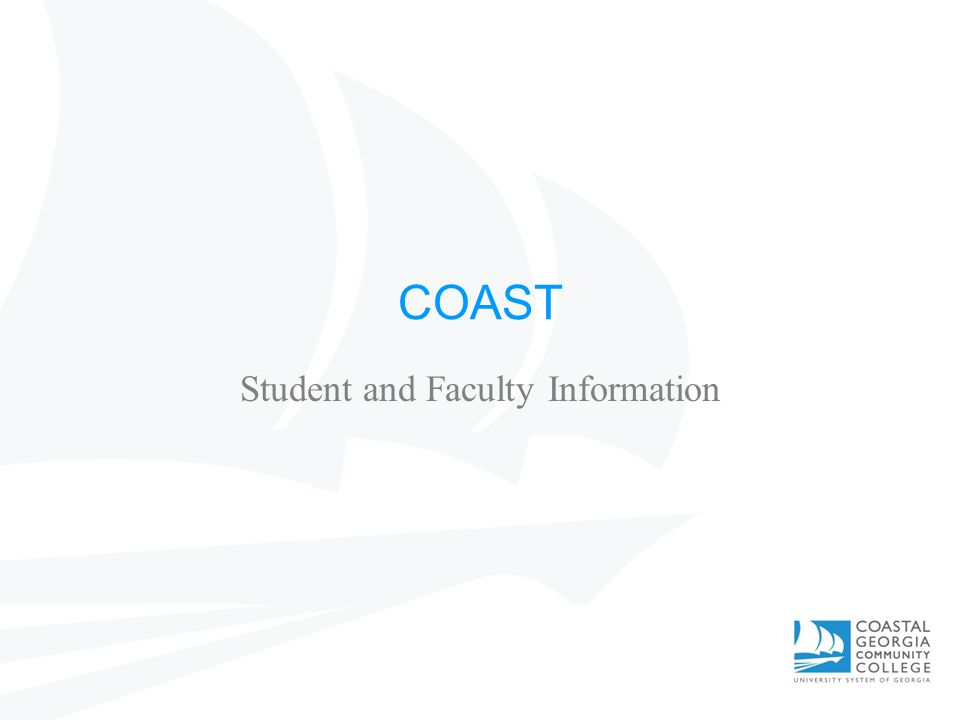 COAST Student and Faculty Information
