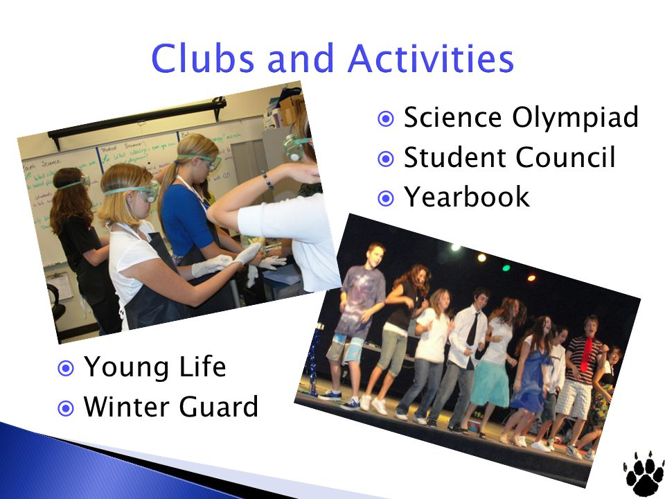 Young Life Winter Guard Science Olympiad Student Council Yearbook