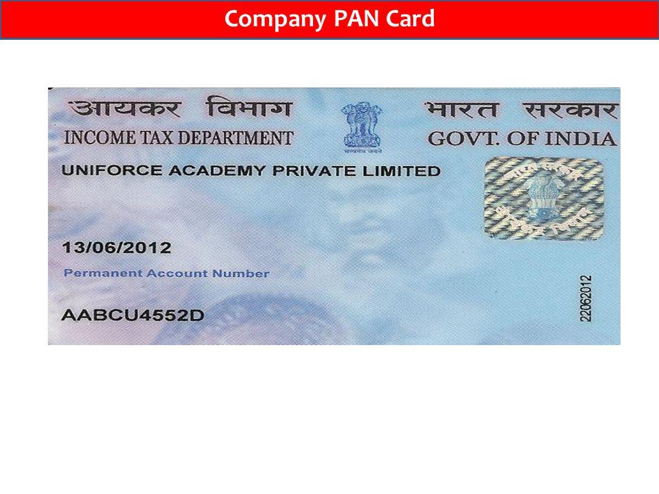 Company PAN Card