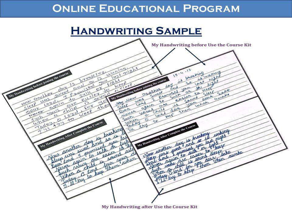 Online Educational Program Handwriting Sample