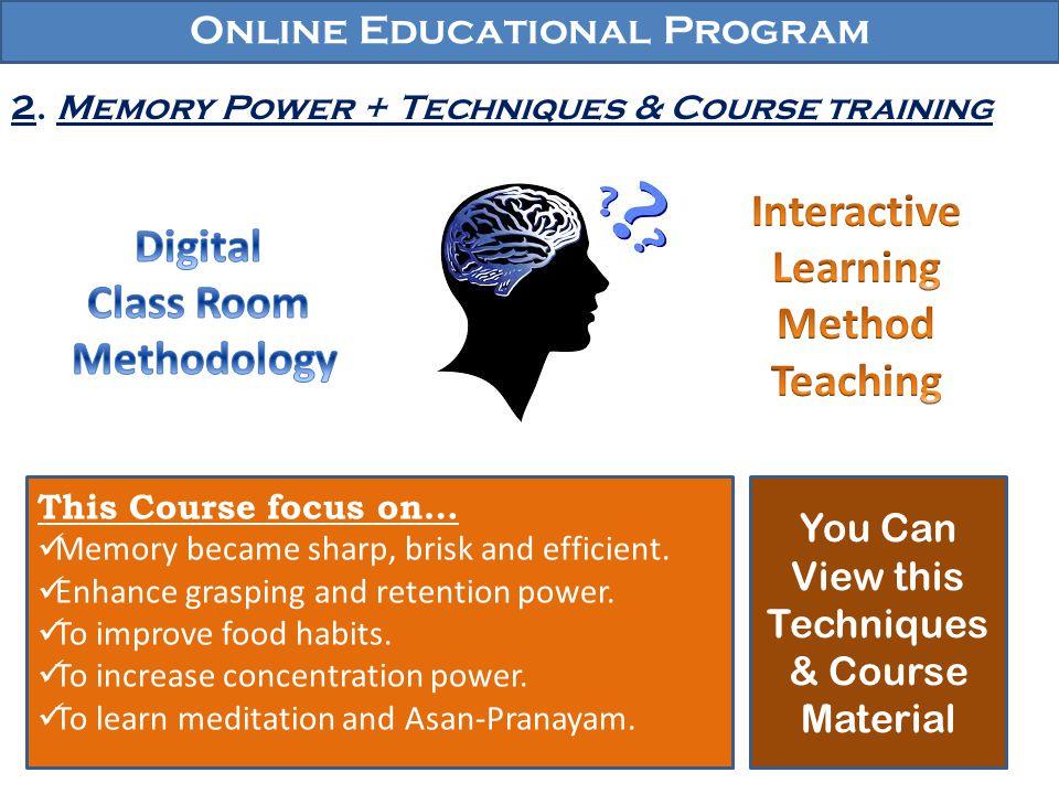Online Educational Program 3.