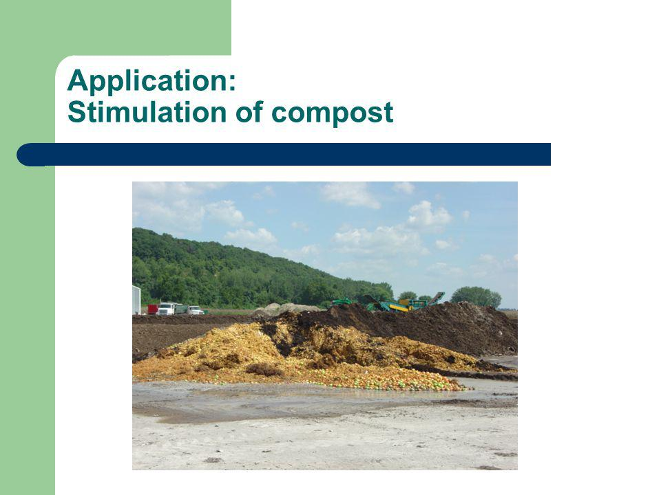 Application: Stimulation of compost