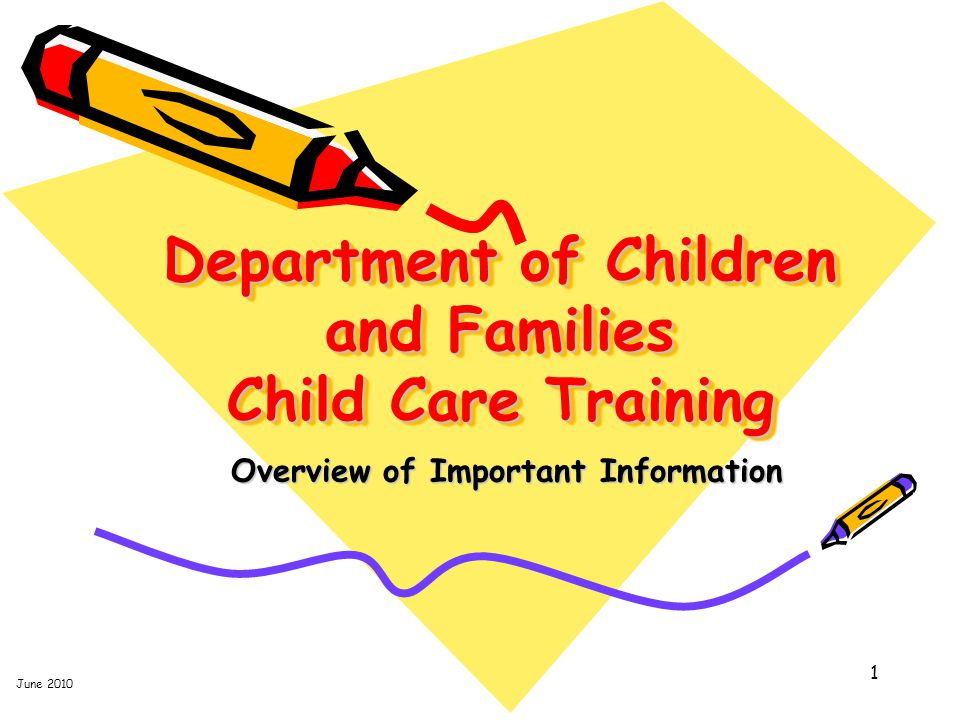 Overview of Important Information 2 www.myflorida.com/childcare www.myflorida.com/childcare Child Care Regulation Website Location of Child Care Training Transcript (important!) Source of Department-approved web-based (online) child care training Resource to register for child care professional competency examinations and DCF web-based or approved classroom-based courses Official comprehensive source of Training Requirements for child care personnel, including State Statutes and Rules.