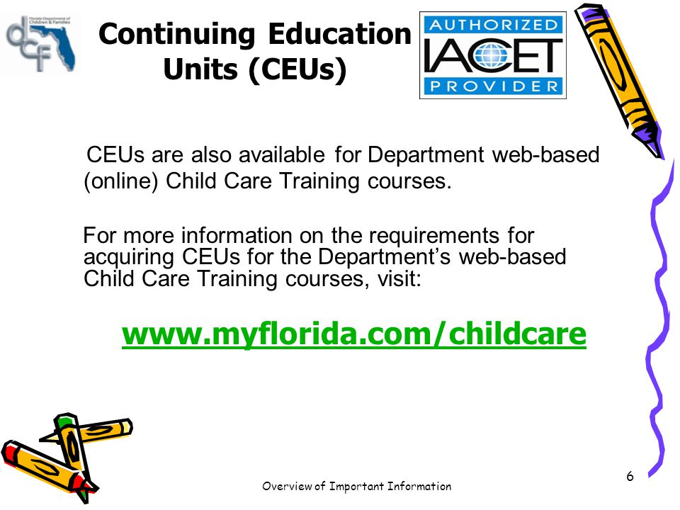 Overview of Important Information 7 Competency Exams Scheduling Your Competency Exam