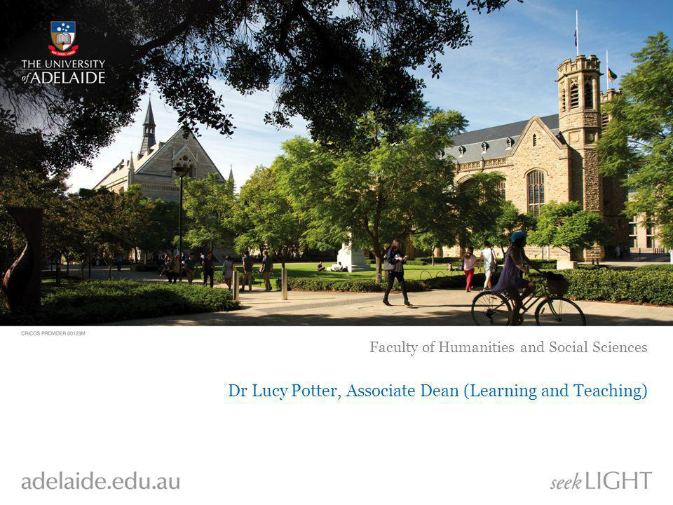 Dr Lucy Potter, Associate Dean (Learning and Teaching) Faculty of Humanities and Social Sciences