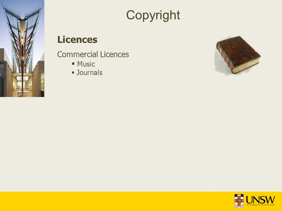 Copyright Licences Commercial Licences Music Journals