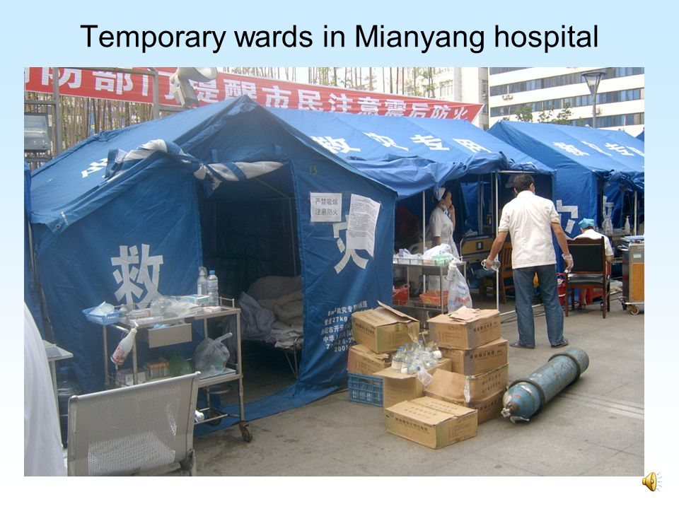 Field hospital in Mianzhu