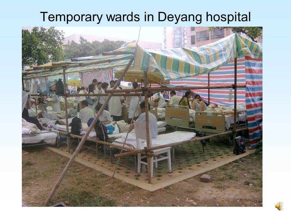 Temporary wards in Mianyang hospital