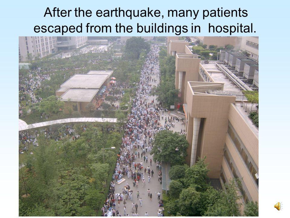 Temporary wards in Deyang hospital