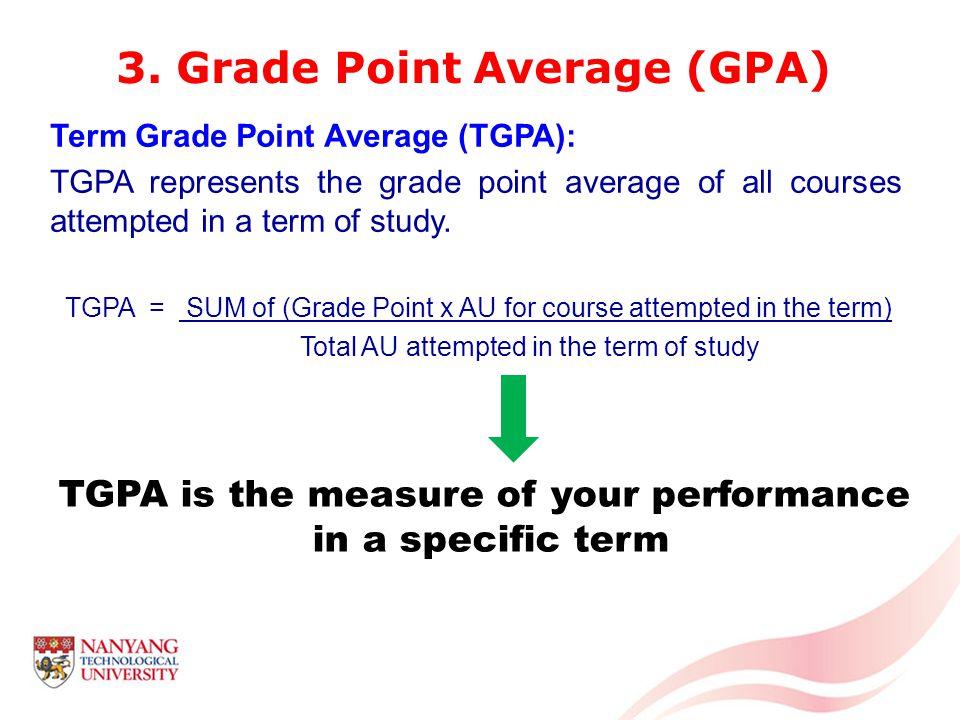 Cumulative Grade Point Average (CGPA): CGPA represents the grade point average of all courses attempted to date.