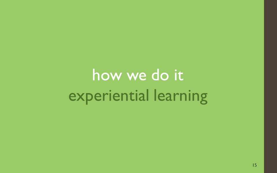 15 how we do it experiential learning