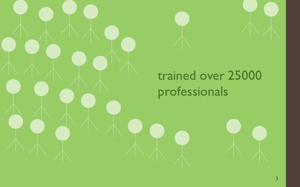 3 trained over 25000 professionals