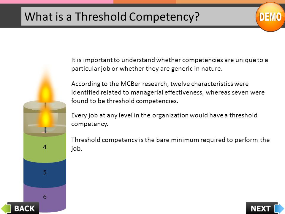 What is a Threshold Competency.