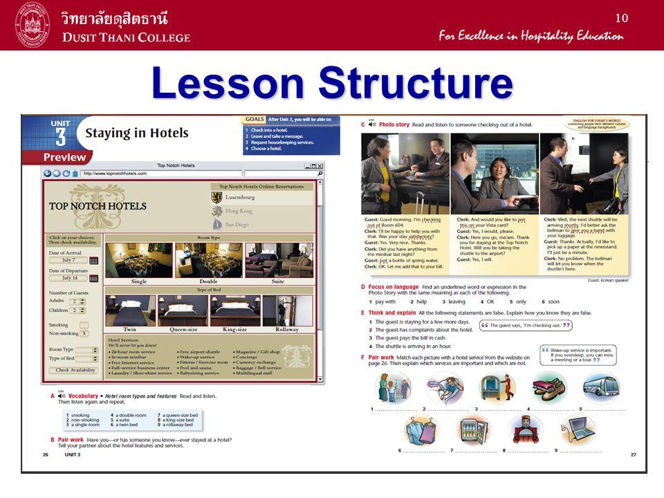 10 Lesson Structure