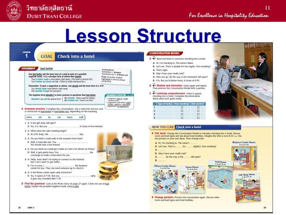 11 Lesson Structure