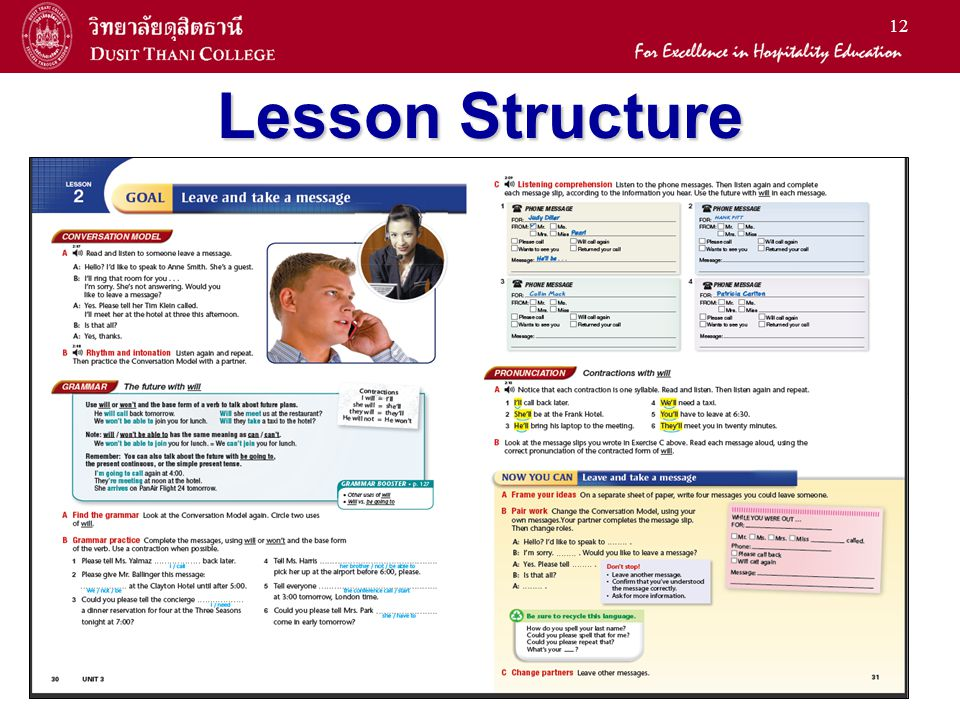 12 Lesson Structure