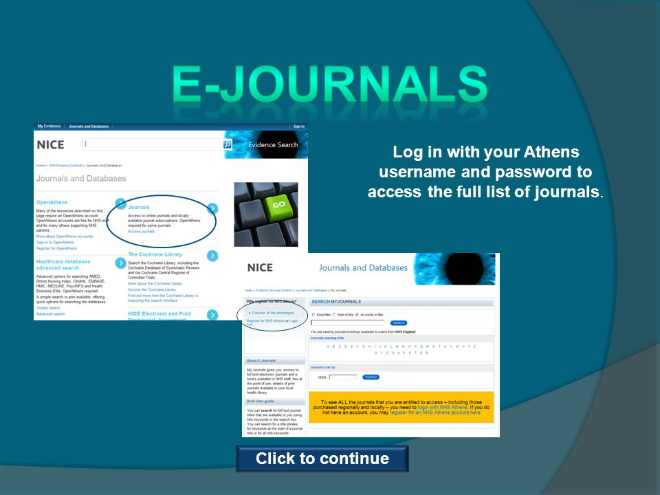 Optional Task: The purpose of this task is to allow you to practice accessing the e- journals and full text articles.