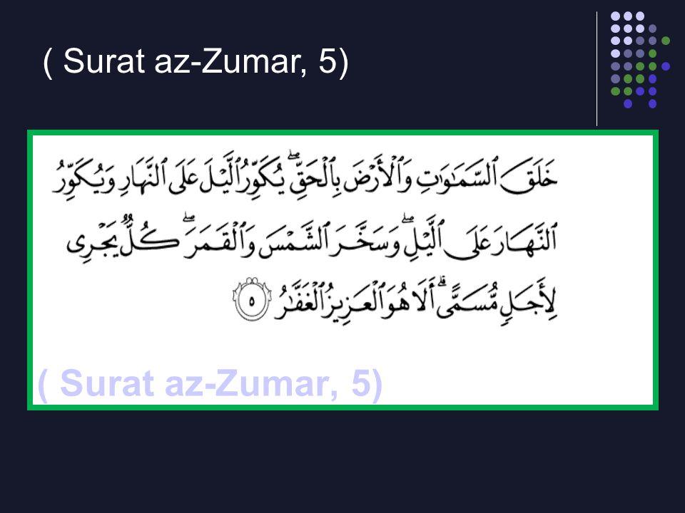 ( Surat az-Zumar, 5)