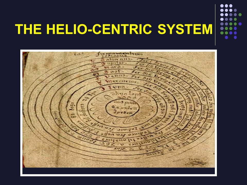 THE HELIO-CENTRIC SYSTEM