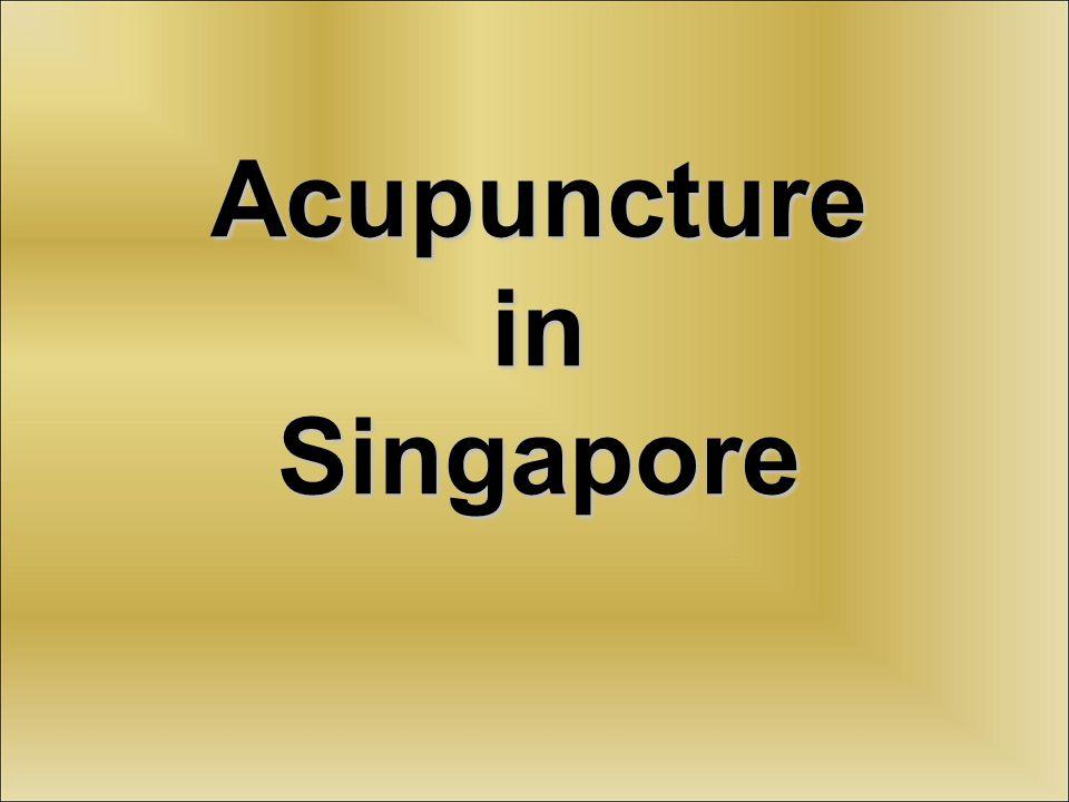 Acupuncture in Singapore