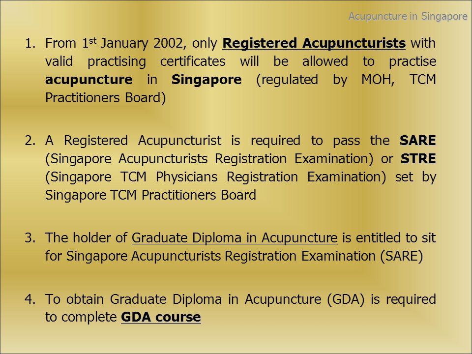 Application Form Login www.singaporetcm.edu.sgwww.singaporetcm.edu.sg Email the completed application form to admin@singaporetcm.edu.sg Payment is required only after the pre- course briefing when the applicant is confirmed for the course For assistance, please contact with: Ms Lim Ruijuan or Ms Pauline Lioe