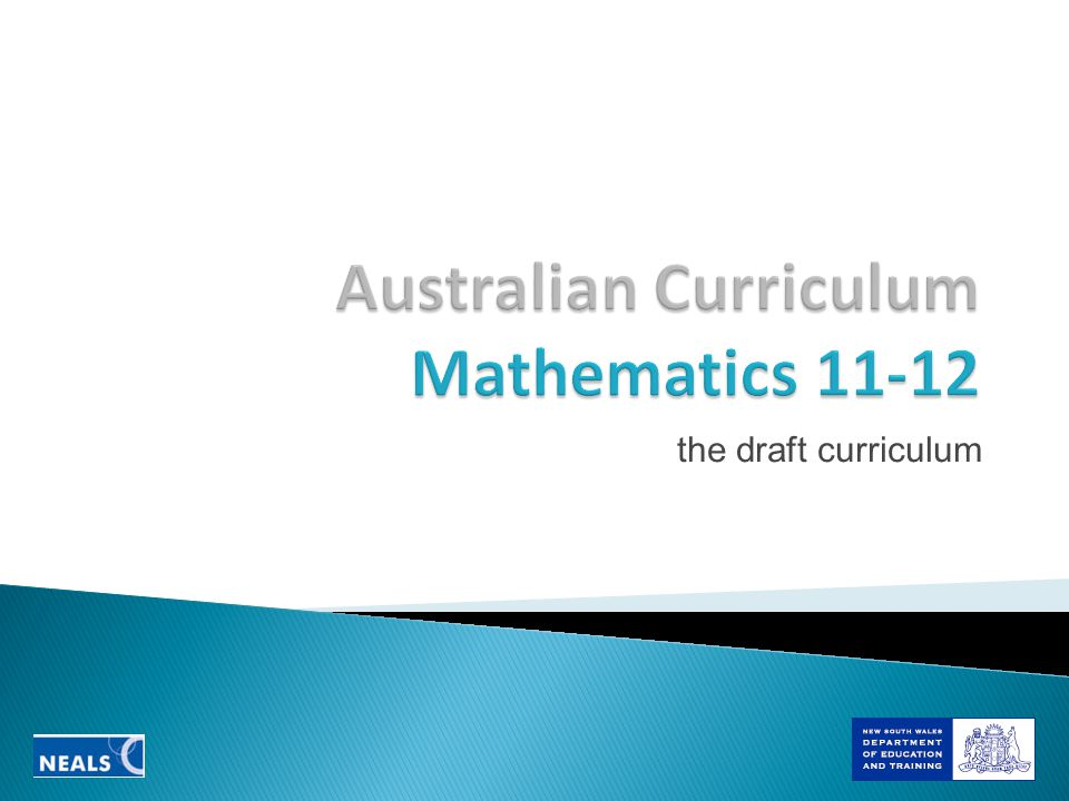 the draft curriculum