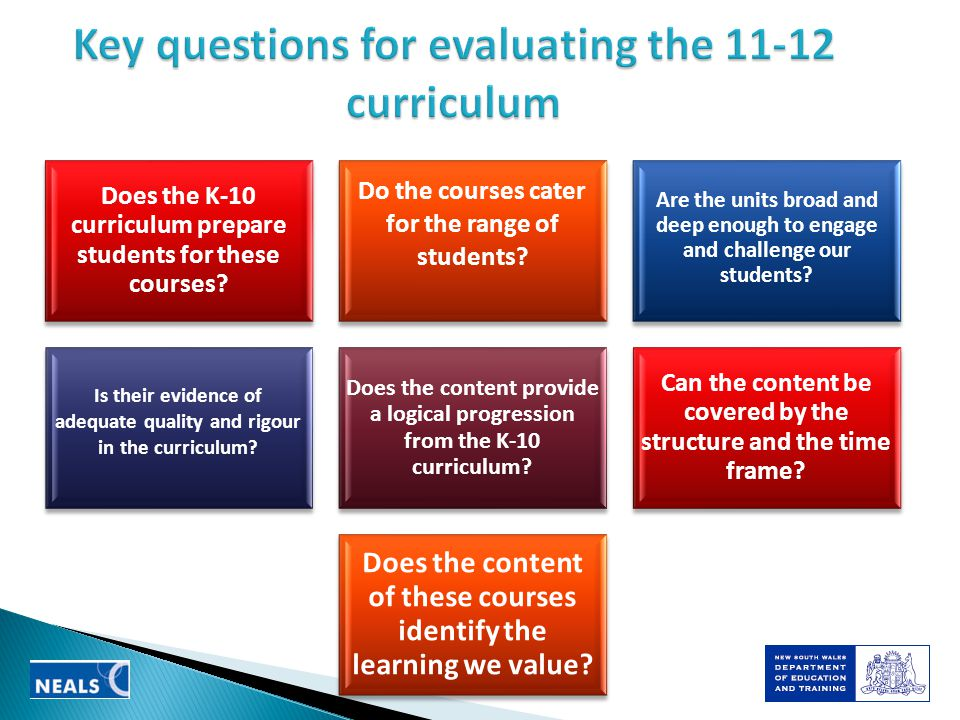 Does the K-10 curriculum prepare students for these courses.