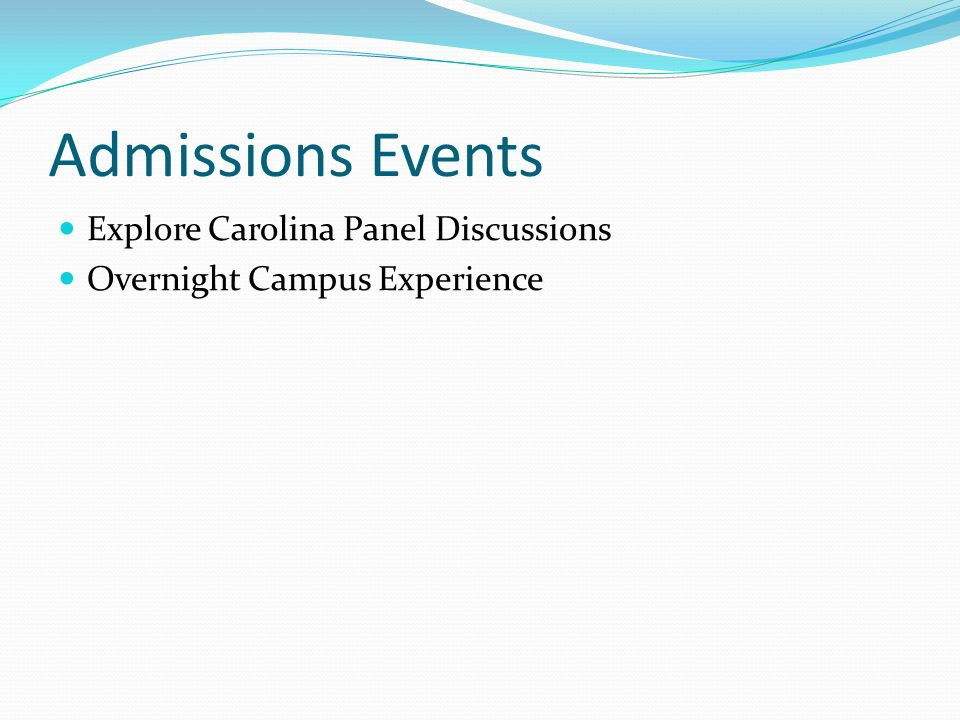 Admissions Events Explore Carolina Panel Discussions Overnight Campus Experience