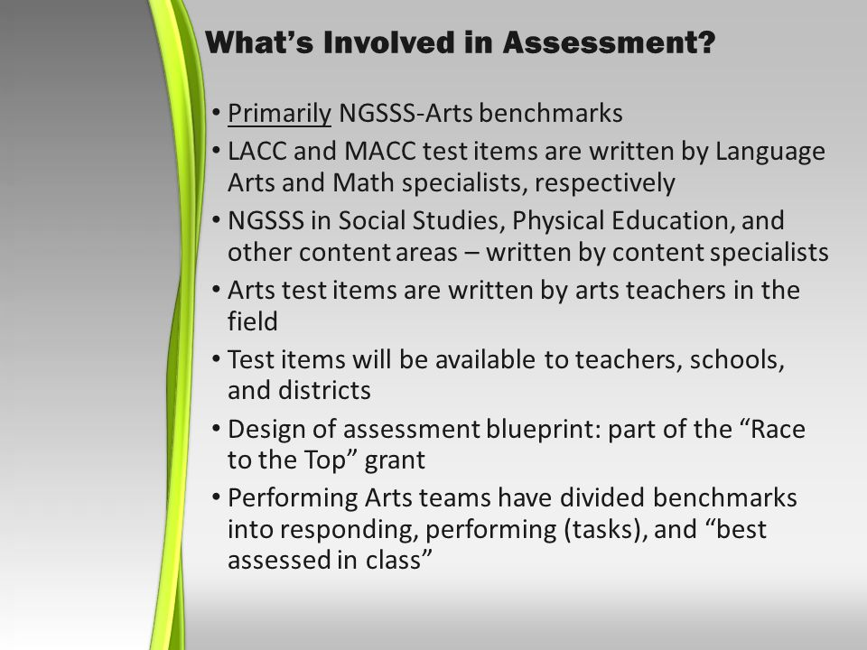 Whats Involved in Assessment.